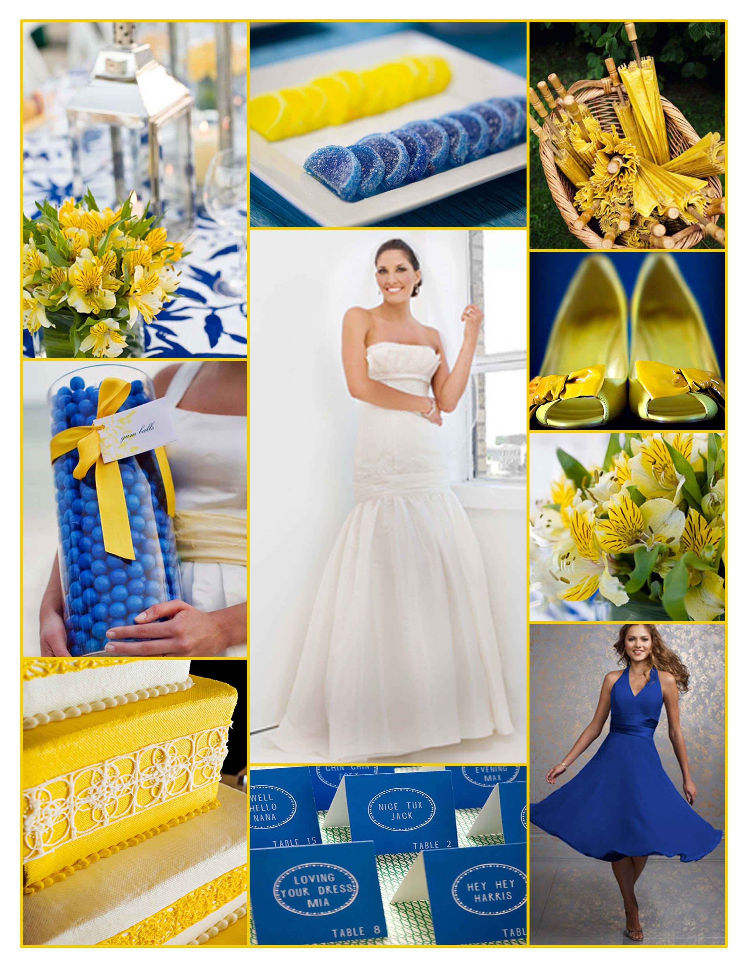 Blue and yellow wedding inspiration | Melisa\'s Wedding | Pinterest ...