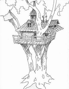 Kids Tree House Drawing how to draw tree house thumbnail | kids | pinterest | trees, how