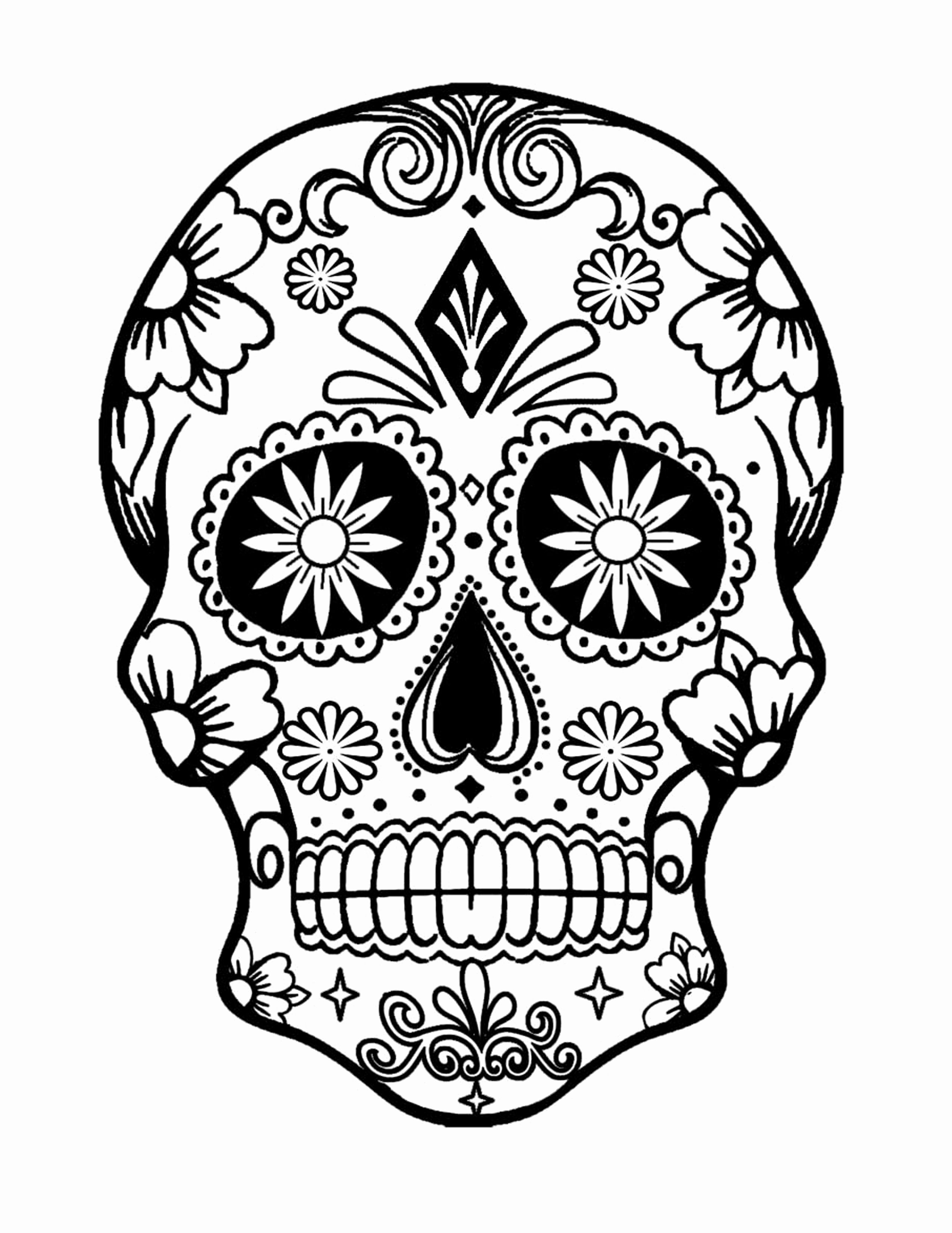 - 24 Sugar Skull Coloring Book In 2020 Skull Coloring Pages, Owl