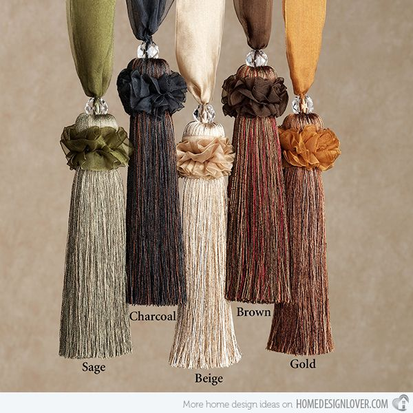 Accessorize Curtains With  Rope And Tassel Tiebacks Home Design Lover