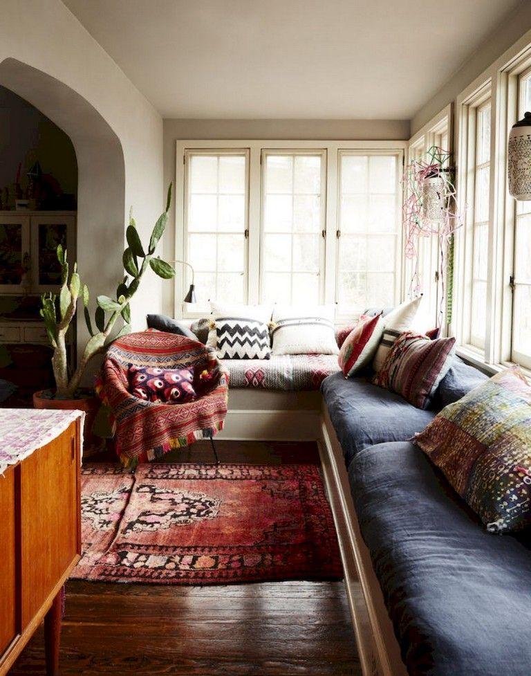 85 Handsome Apartment Living Room Decor Ideas With Boho Style home