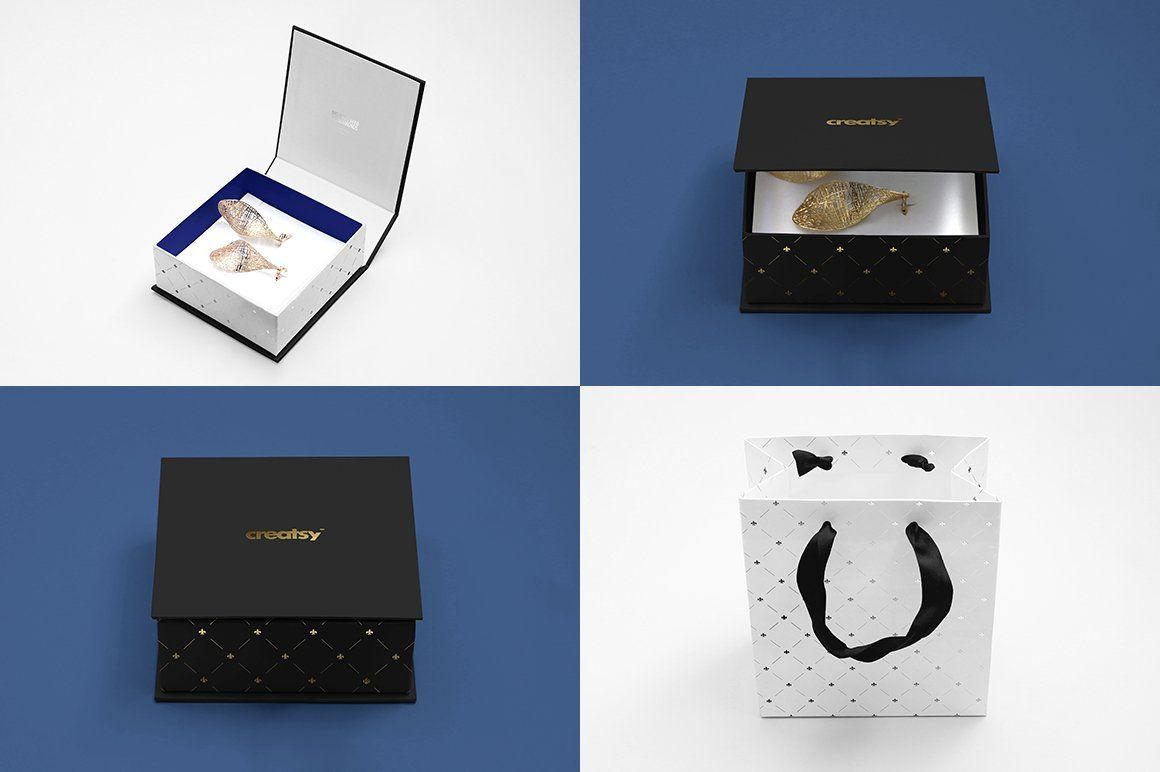 Download Jewelry Box Mockup Set Box Mockup Creative Market Box Template