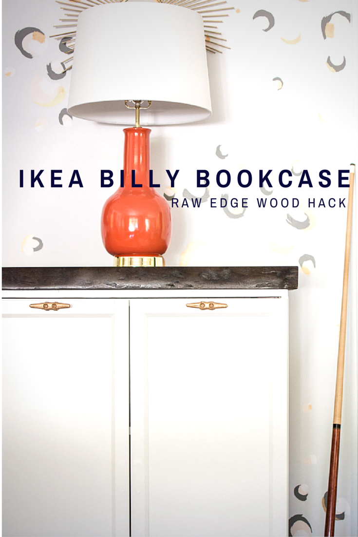 IKEA BILLY bookcase hack with a raw edge cherry top, dock