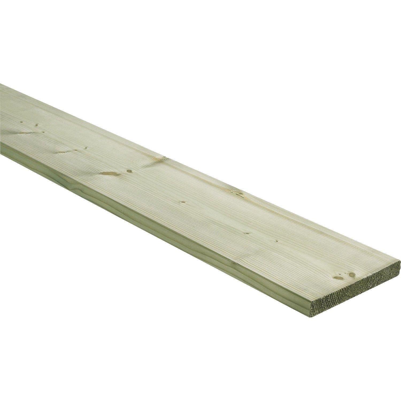Planche Sapin épicéa Traité Et Raboté 25x195 Mm Long 4 M