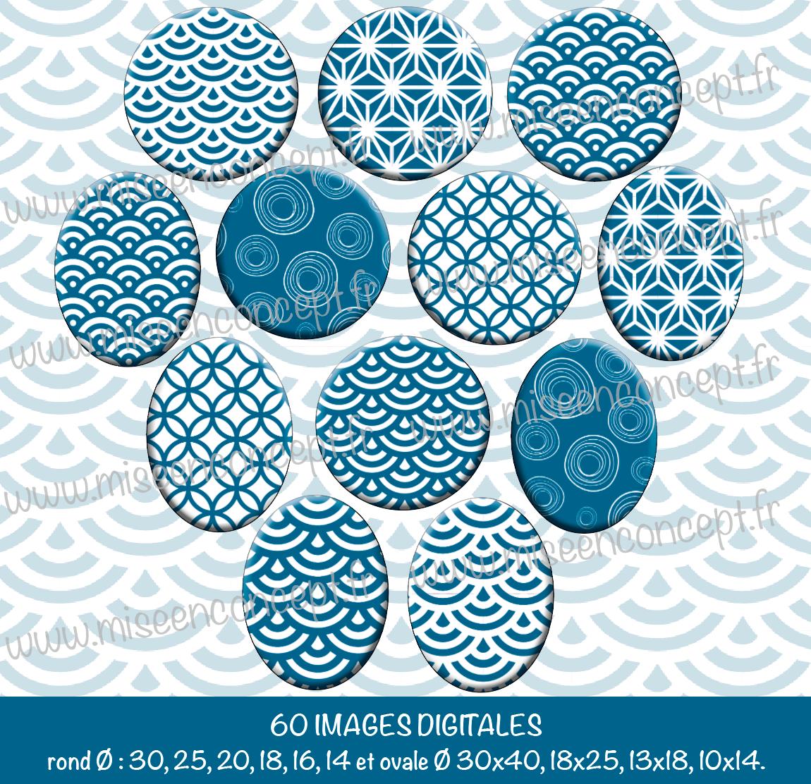60 Images Digitales Motifs Tons Bleu Canari Rond Ovale Images Cabochons Japon Scandinave Geometrie A Imprimer Pour Cre Image Digital Motif Images
