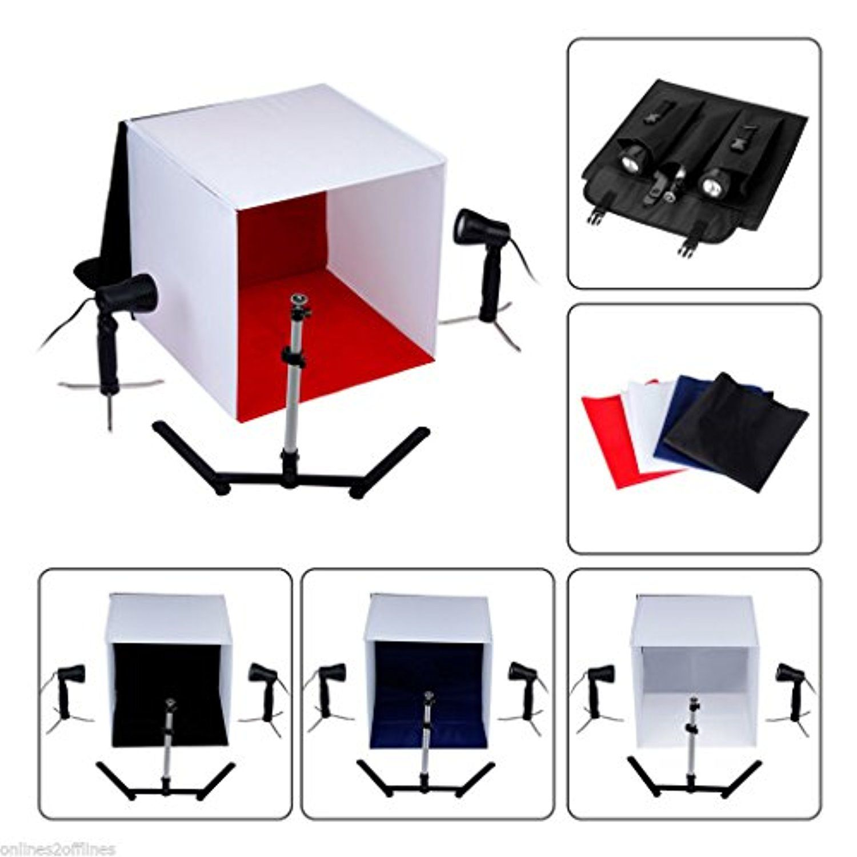 Portable Photo Studio Photography Light Tent Backdrop Kit Cube Lighting In A Box Aw Studio Photography Lighting Photography Light Tent Portable Photo Studio