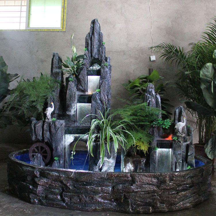 Grand salon du paysage   l\u0027intérieur de l\u0027eau de la fontaine de - fontaine a eau d interieur