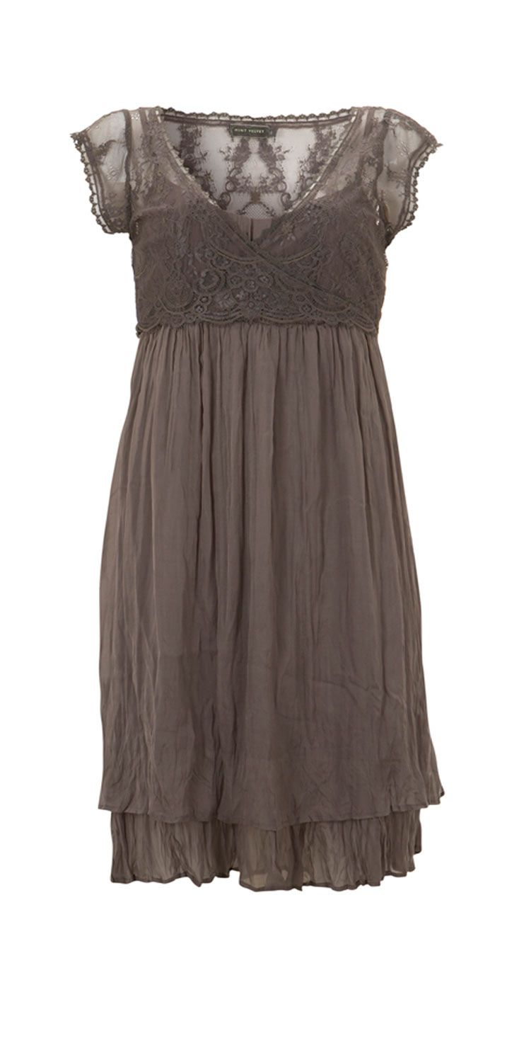 6a1cd4ee3924ad Romantic dress Taupe Dress