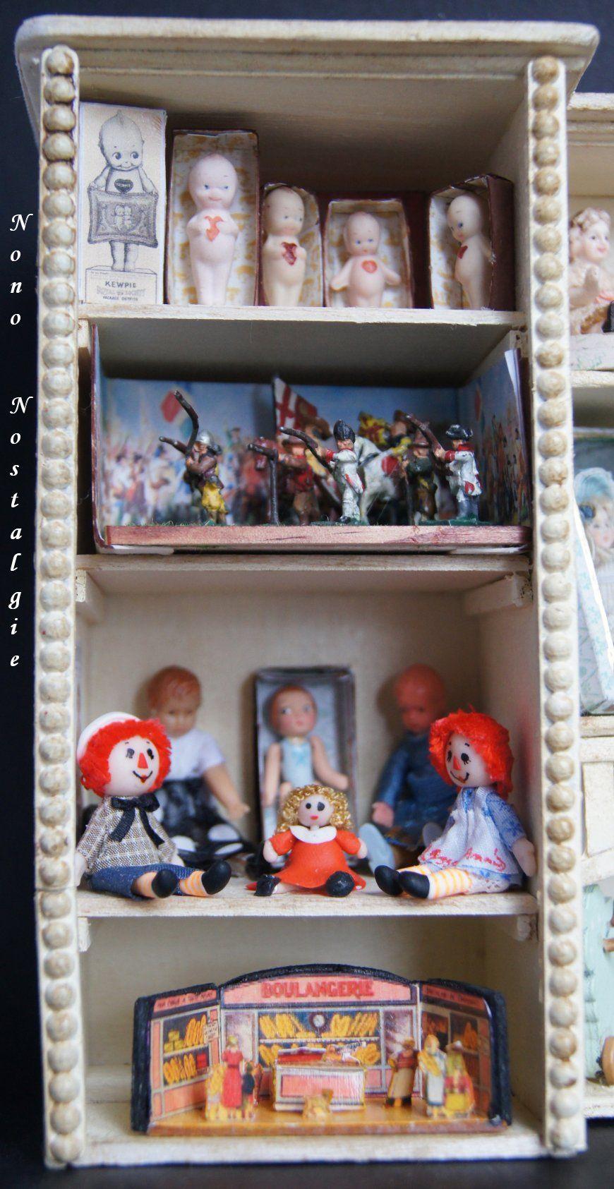 The Nutcracker  toyshop. Close up shelf 1 floor