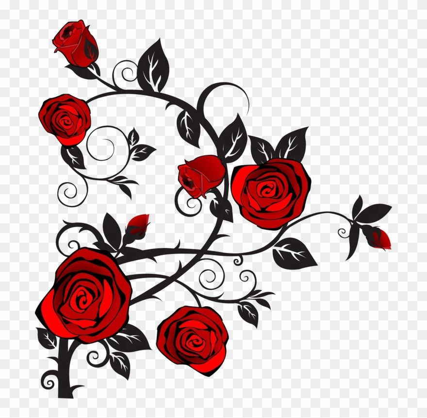 Rose Clipart Rose Thorns Rose Tattoos Girl Tattoos Tattoo Designs Moon With Roses Png Download 1998555 Is A C Rose Tattoos Rose Clipart Thorn Tattoo
