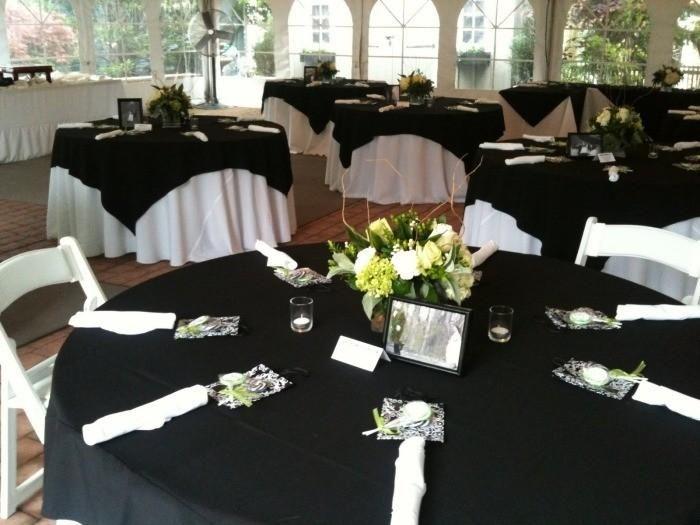 42 Elegant Wedding Tables In Black And White Arranged
