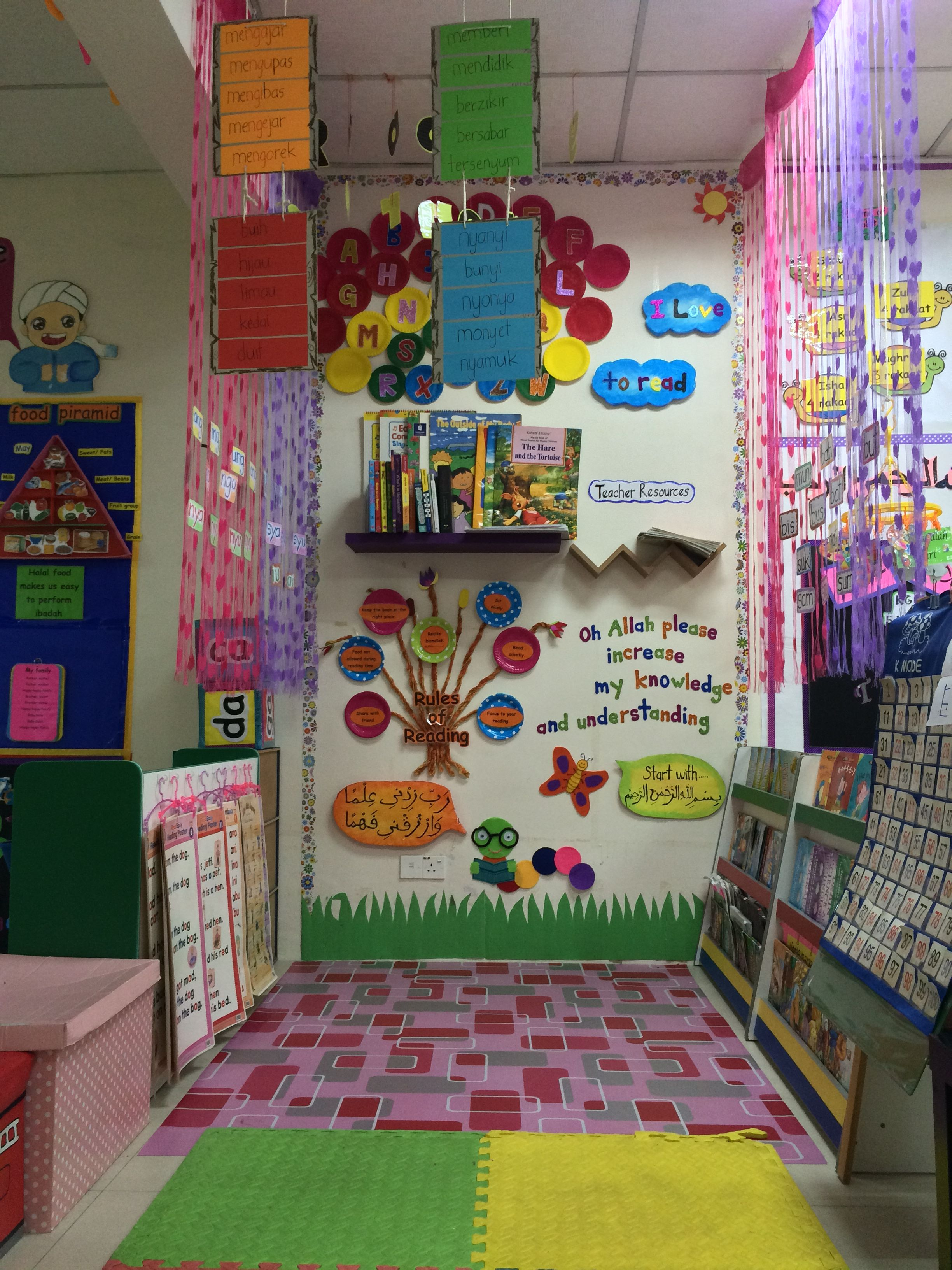 Decoration of the corners in the kindergarten on various subjects