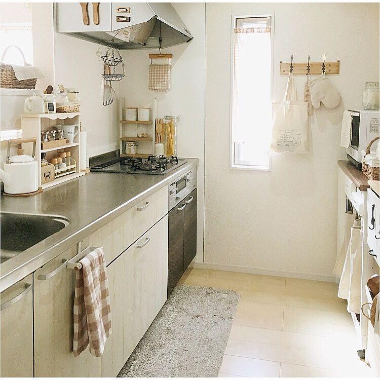 キッチン 白 木 いつもいいねやコメントありがとう ミトン セリア