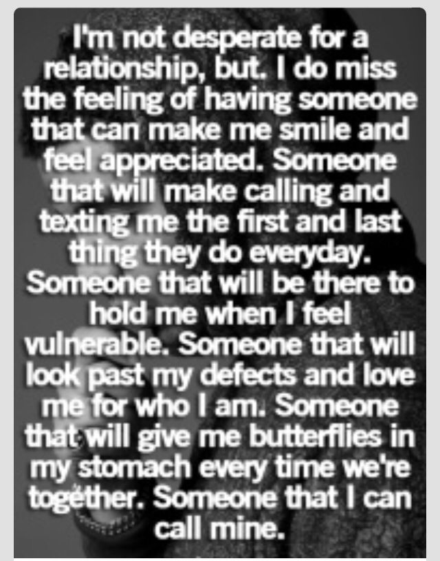 i miss being in a relationship