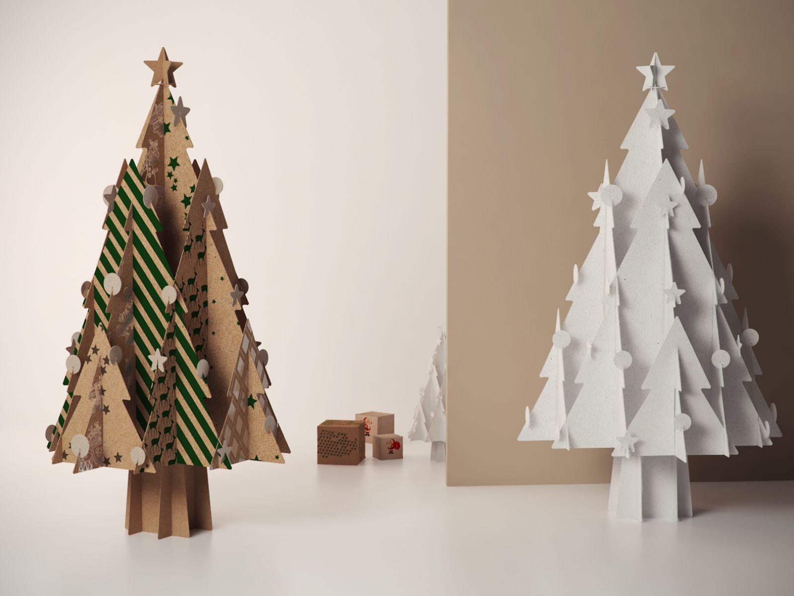 Dc Free 3d Model Of Cardboard Christmas Tree Cardboard Christmas Tree Christmas Tree Christmas Tree Star