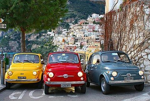 Old /& New Framed Picture Poster Print Fiat 500 30x20 Inch Canvas