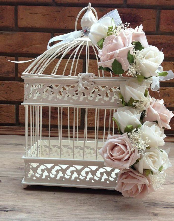 la cage oiseaux d corative tendance shabby chic mariage nana et romain. Black Bedroom Furniture Sets. Home Design Ideas