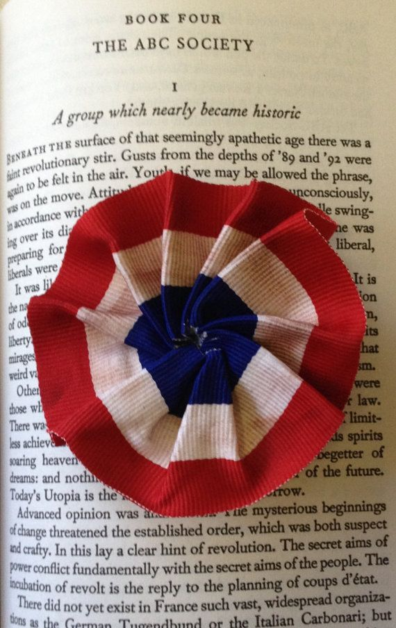 Les Miserables inspired rosette by Leahssweetshoppe on Etsy