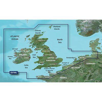 GPS Software and Maps Garmin Bluechart G2 Hxeu706l Uk And Ireland