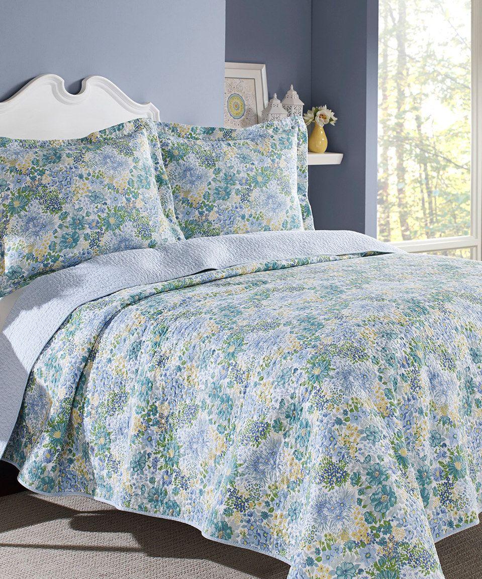 Loving this Blue Chelsea Quilt Set on #zulily! #zulilyfinds