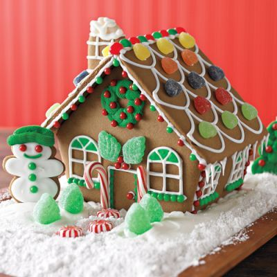 Everyone madee a ginger bread house this year on Christmas ...