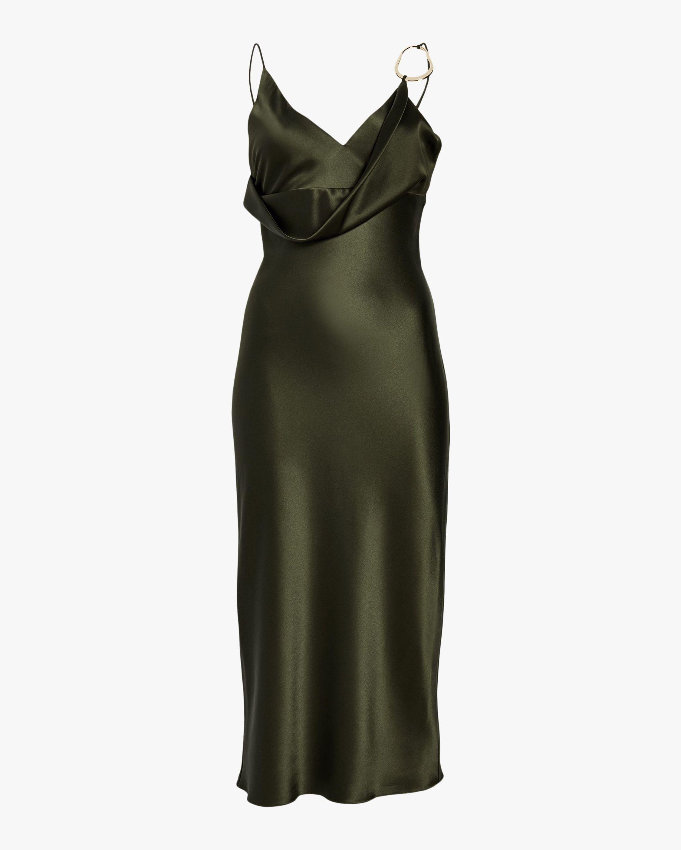 Women's Cushnie Front Cowl Pencil Dress
