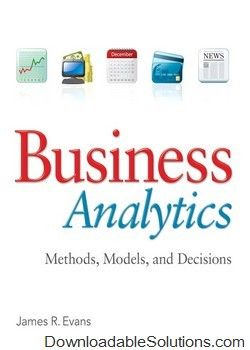 test bank for business analytics 1st edition james r evans download rh pinterest com Analytic Solution DDS Analytics Icon