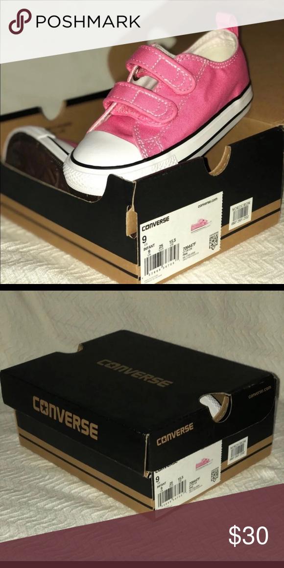 BRAND NEW toddler girls pink converse