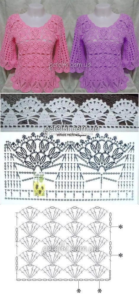 petelki.com.ua | tejido | Pinterest | Crochet, Patterns and Crochet ...