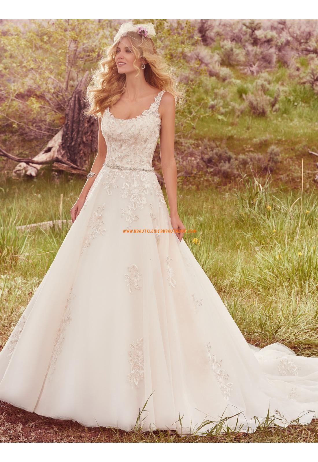 A-linie Traumhafte Glamouröse Brautkleider aus Tüll mit Applikation ...