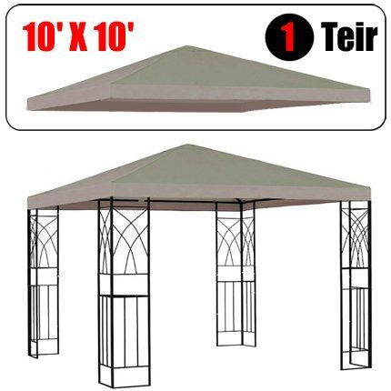10 X 10 Gazebo Replacement Canopy Top Cover Beige Color Single Teir By Gh 47 99 Designed For Single Gazebo Replacement Canopy Gazebo Replacement Canopy
