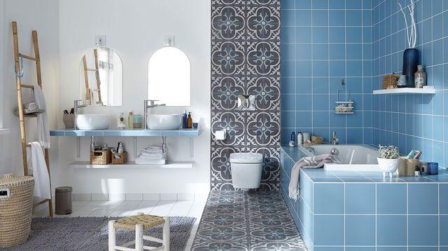Sol et mur salle de bain quoi choisir sdb salle salle de bain et meuble salle de bain - Moquette pour salle de bain ...