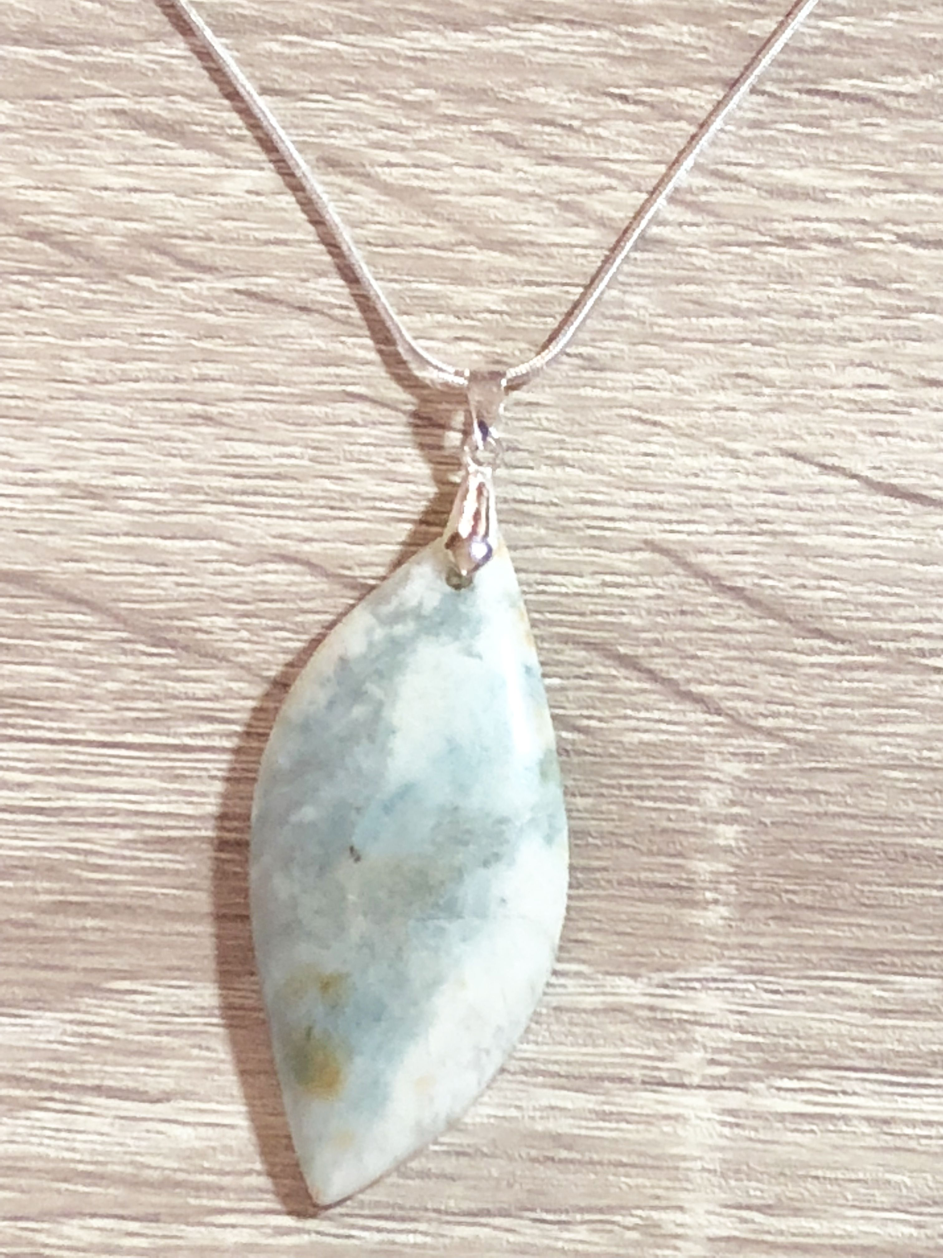 Amazonite Gemstone Pendant Necklace Natural Raw Crystal Stone