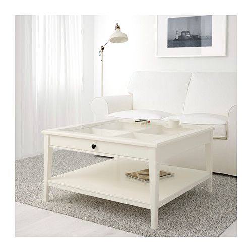 LIATORP Coffee Table, Gray, Glass