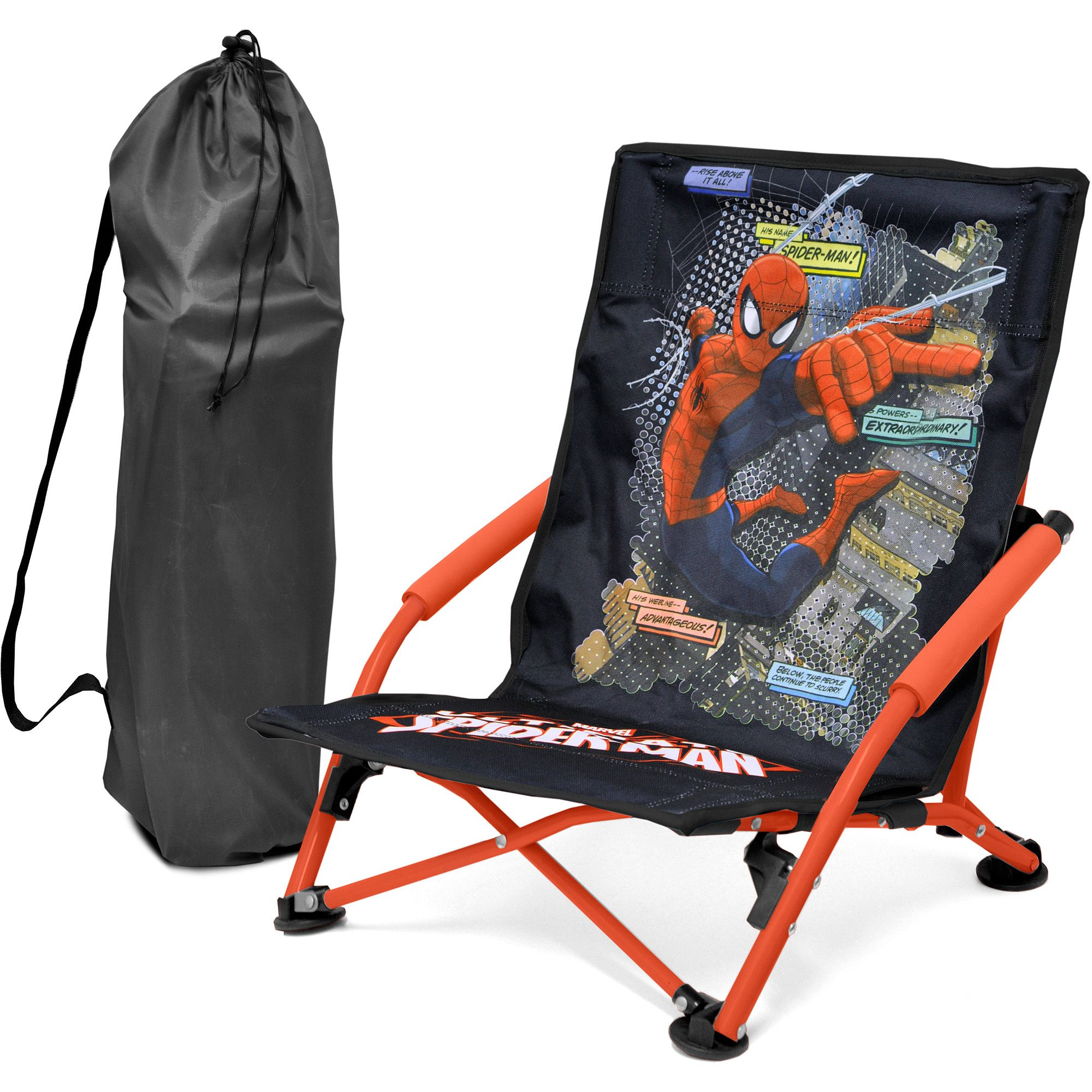 SpiderMan Folding Lounge Chair, Red