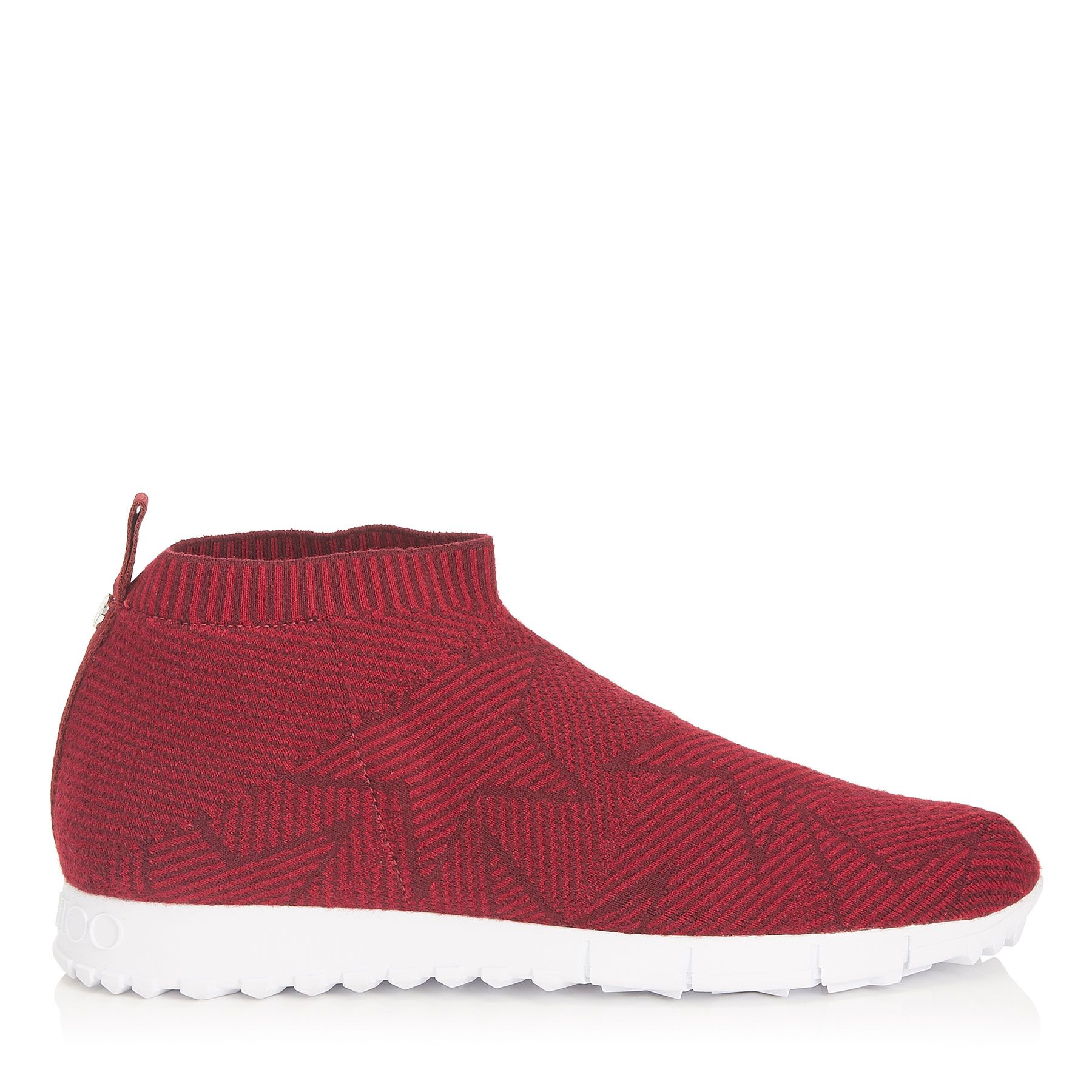 66100a7461c1 JIMMY CHOO NORWAY M RED AND BORDEAUX KNIT TRAINERS.  jimmychoo  shoes