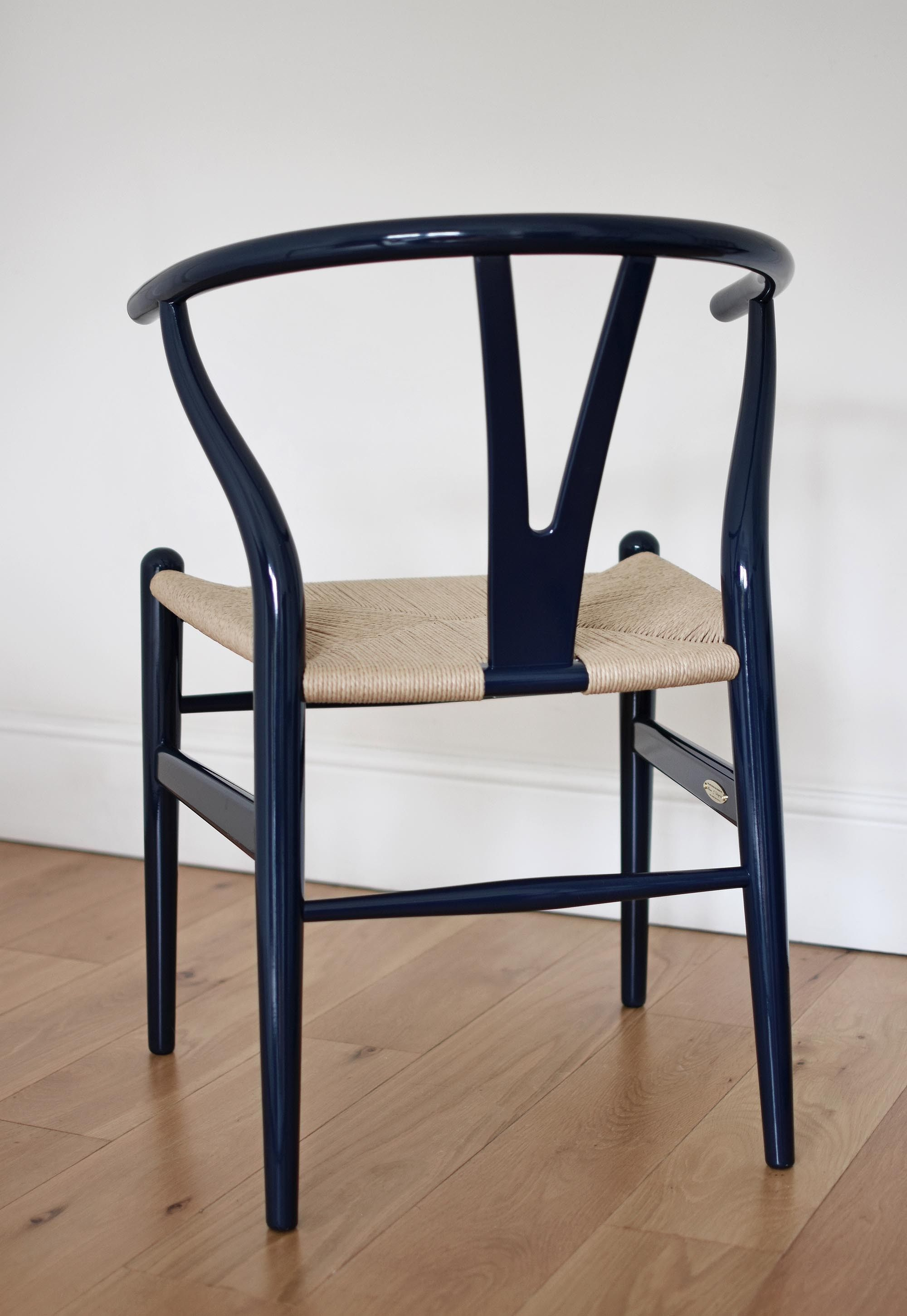 The iconic CH24 'Wishbone' chair turns navy blue These