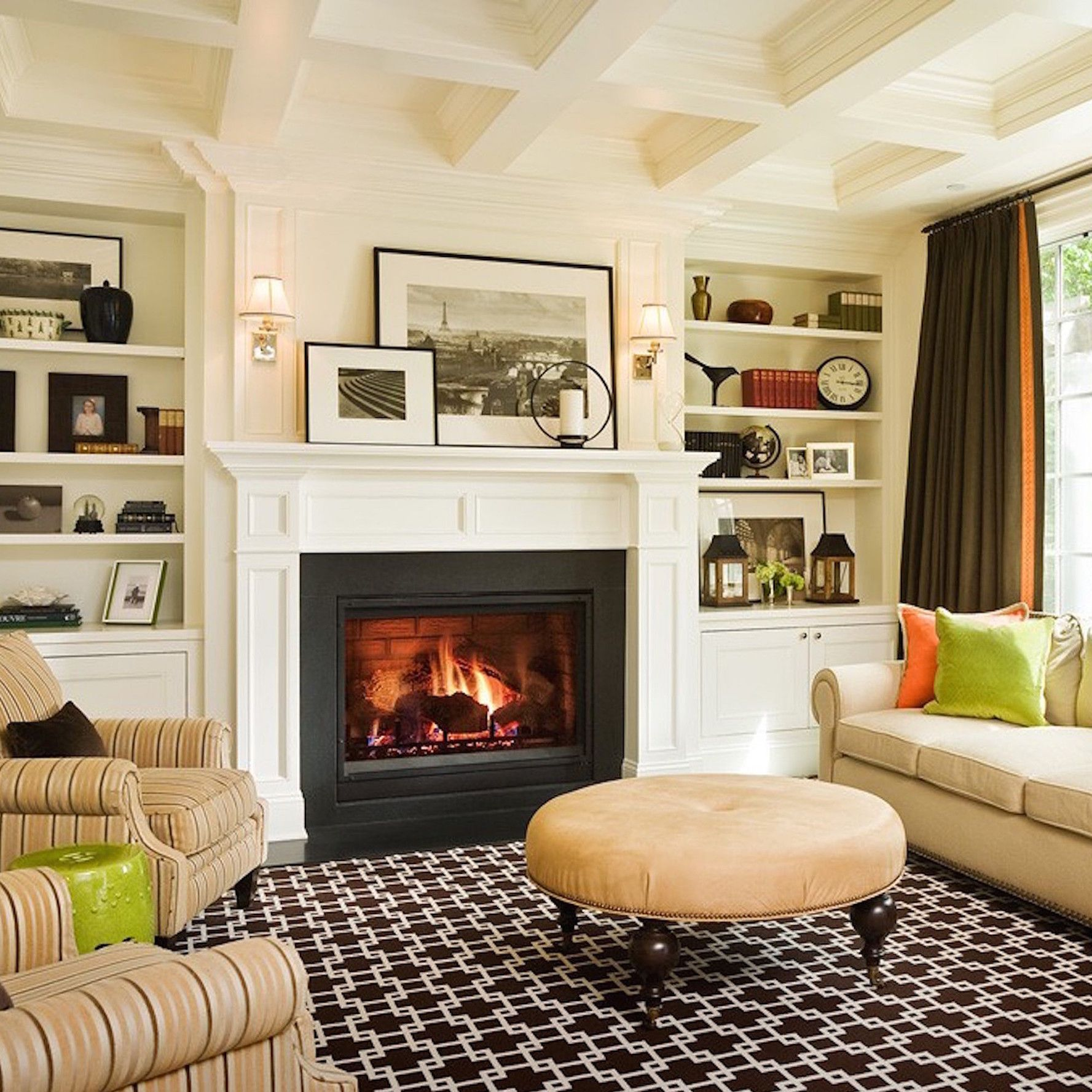 10 Rules To Keep In Mind When Decorating A Living Room Living Room Mantel Decorating Ideas Living Room Orange Living Room Mantel