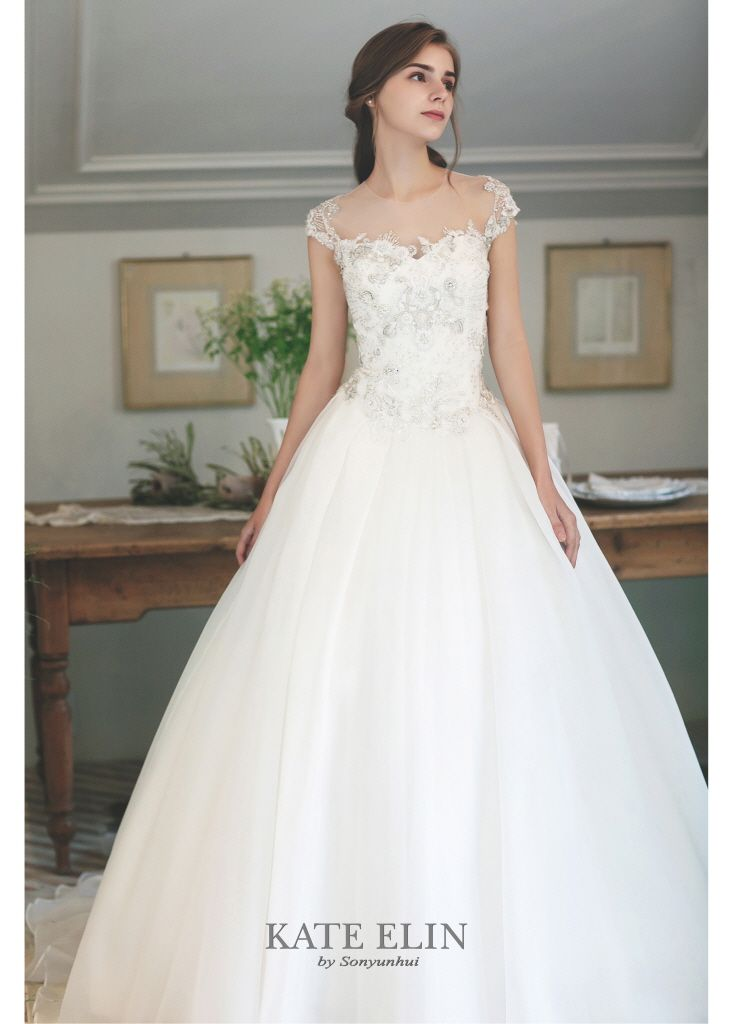 59c139507005 Organza bell line dress. Features with cap sleeve and romantic bodice.  Virtuous…
