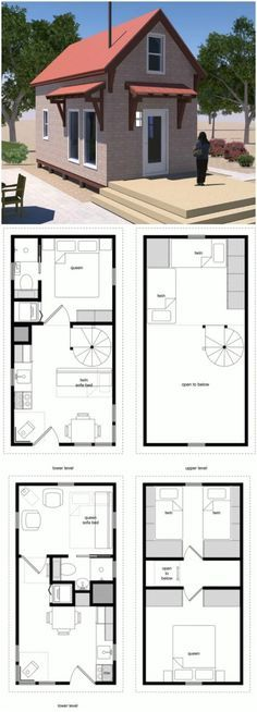 17 Do It Yourself Tiny Houses With Free Or Low Cost Plans Tiny House Design House Floor Plans Deck Building Plans