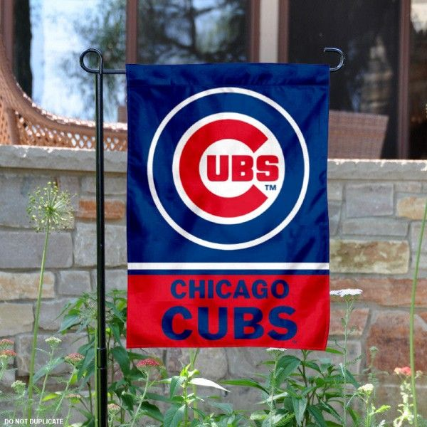 Chicago Cubs Garden Flag is 125x18 inches in size is made of 2