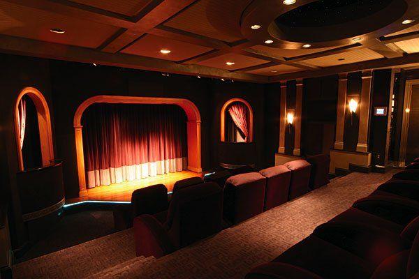 Hi tech home theater design ideas