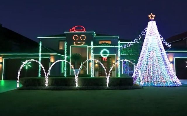 Oppa Christmas Style Watch This Incredible Gangnam Style Light