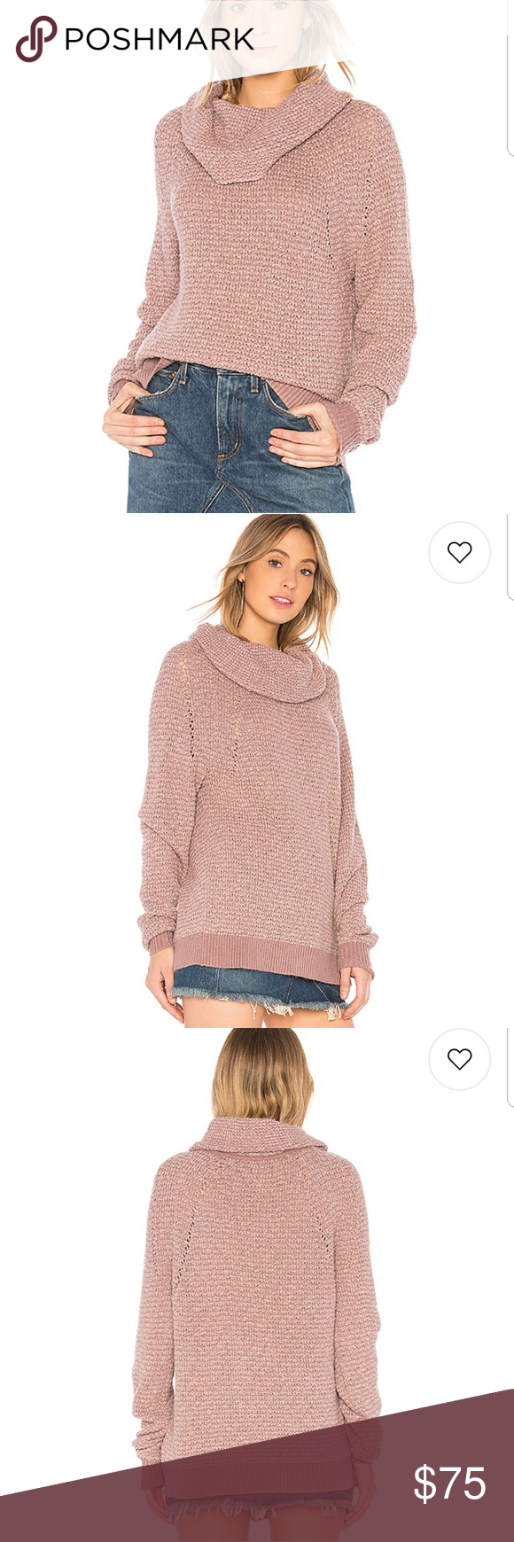 Free People By Your Side Sweater In Mauve Nwt In 2018 My Posh