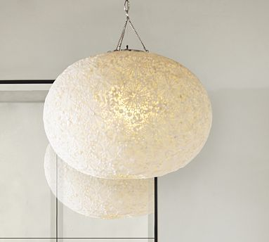 Kai shell round plug in pendant ivory shell pendant lights and kai shell pendant potterybarn 599 have it made into semi flush aloadofball Image collections