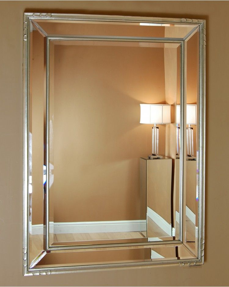 Montallegro Large Silver Wall Mirror | Venetian wall ...