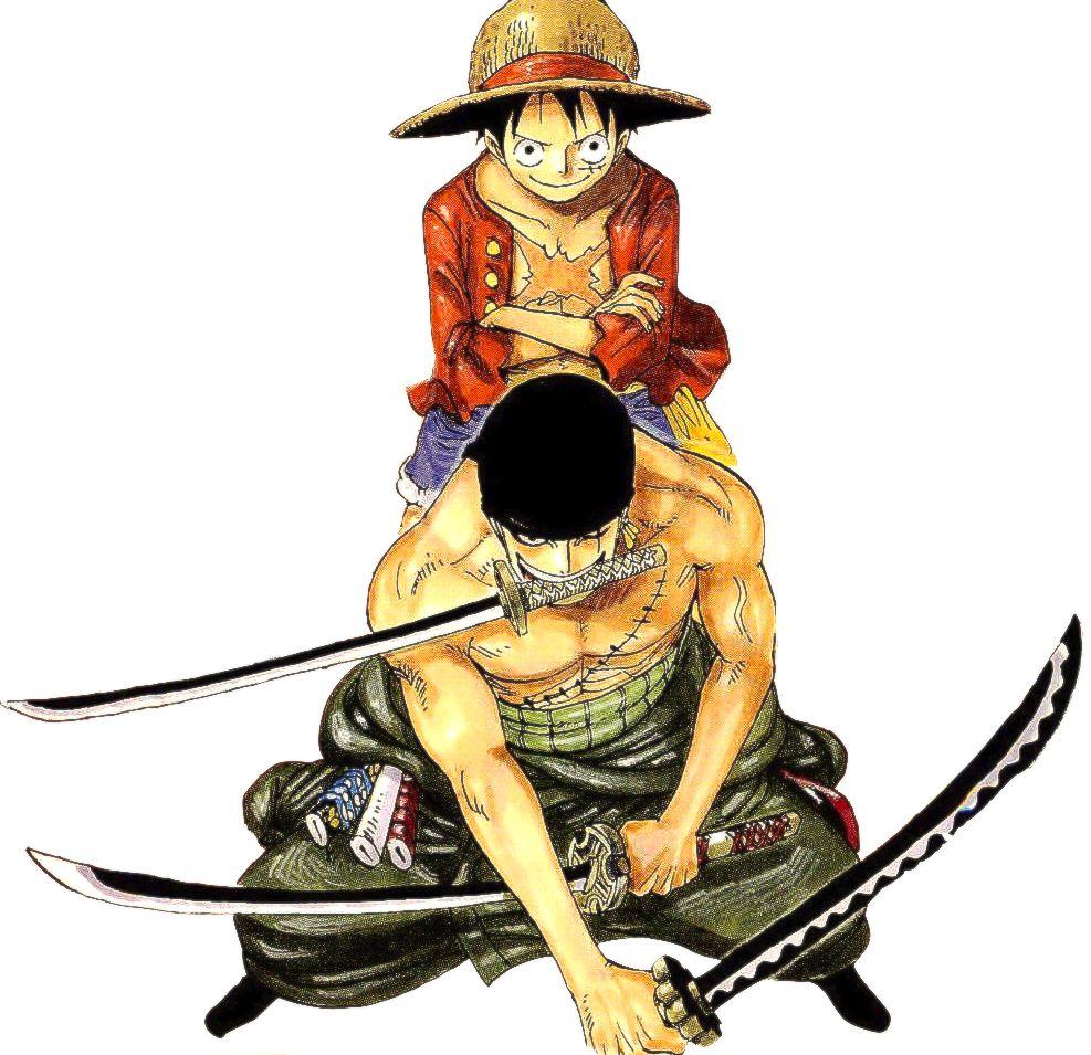 Monkey D. Luffy Roronoa Zoro (2 years later)   Manga