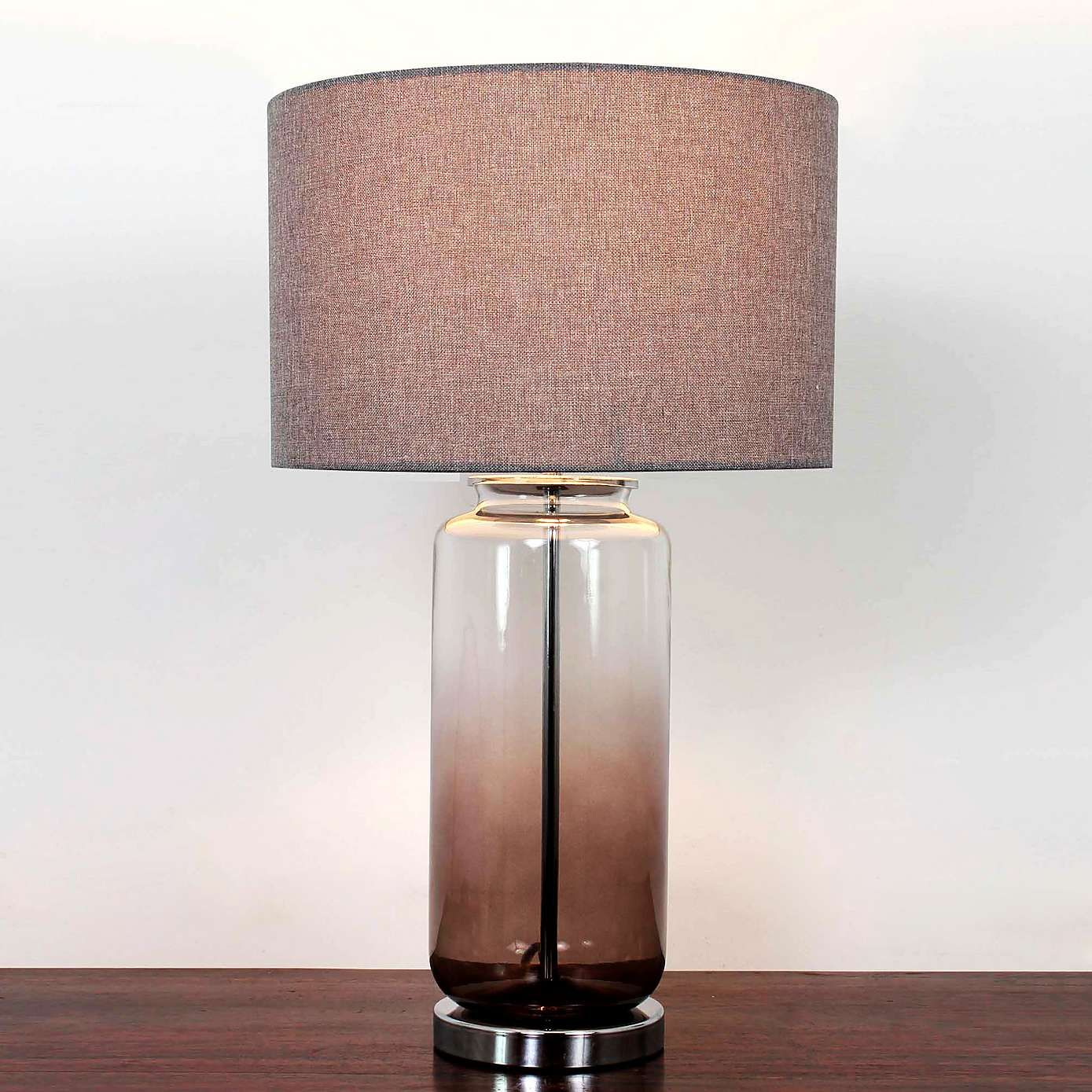 Hotel Large Ombre Glass Table Lamp | Glass table lamps, Glass table ...