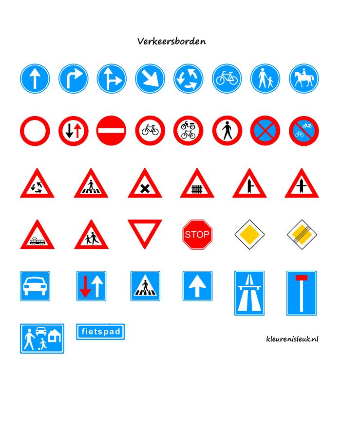 verkeersborden knutselen thema verkeer vervoer thema