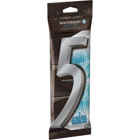 5 Gum Wintermint Ascent Sugarfree Gum, multipack (3 packs total)